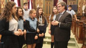 Con el alcalde de Bilbao